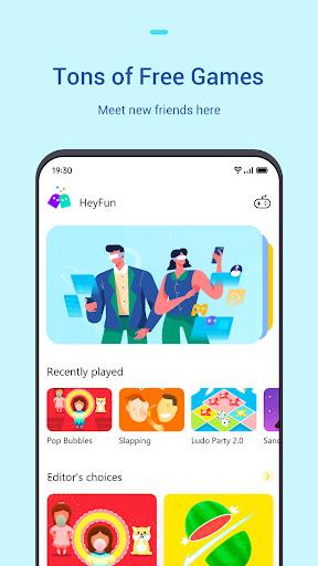 HeyFun - Play instant games & Meet new friends  screenshots 1