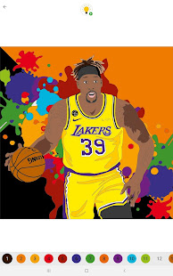 Coloring Basketball  - Color by number