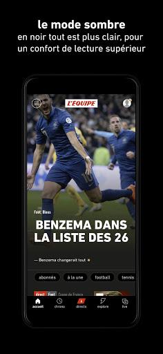 L'u00c9quipe - Sport en direct : foot, tennis, rugby.. apktram screenshots 3