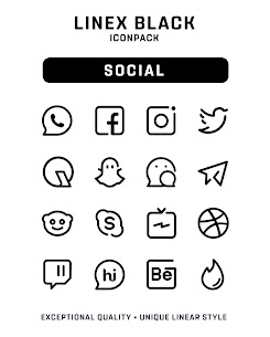 LineX Black Icon Pack Apk 1.1 (Patched) 3