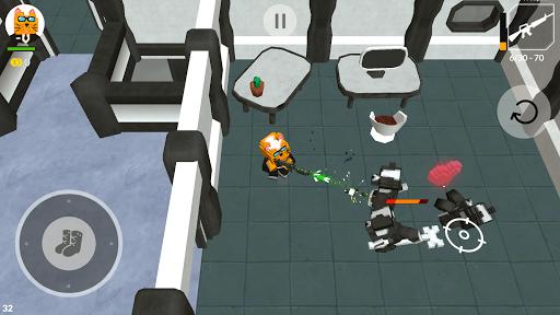 Cats vs Dogs - 3d Top Down Shooter & Pixel War  screenshots 2