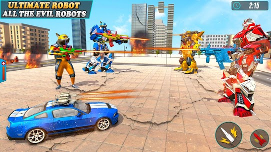 Rat Robot Hero Transform Car Robot Shooting Games Hack Online [Android & iOS] 4