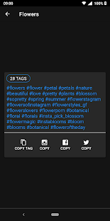 HashTags for Instagram Screenshot