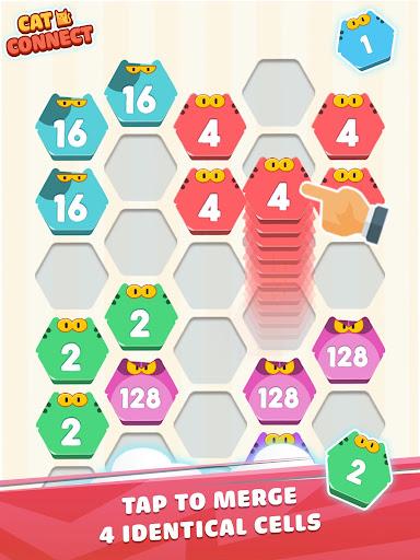 Cat Cell Connect - Merge Number Hexa Blocks 1.2.1 screenshots 6