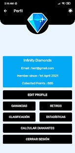 Diamantes Gratis Infinity Screenshot