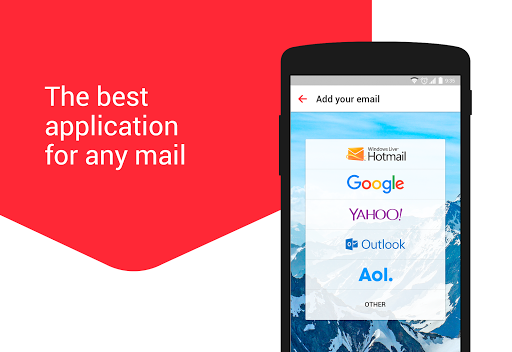 myMail: Email App for Gmail, Hotmail & AOL E-Mail  screenshots 1