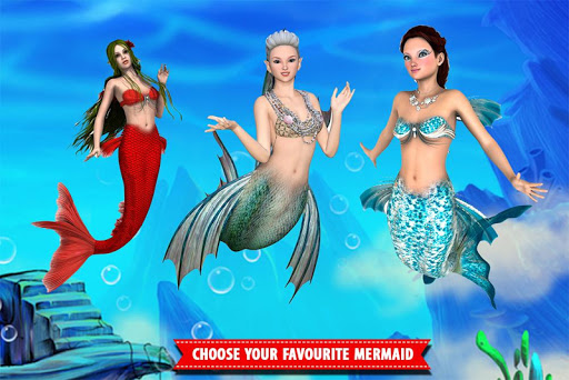 Mermaid Simulator Games: Sea & Beach Adventure android2mod screenshots 12