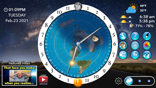 Flat Earth Sun, Moon & Zodiac Clock  screenshots 1