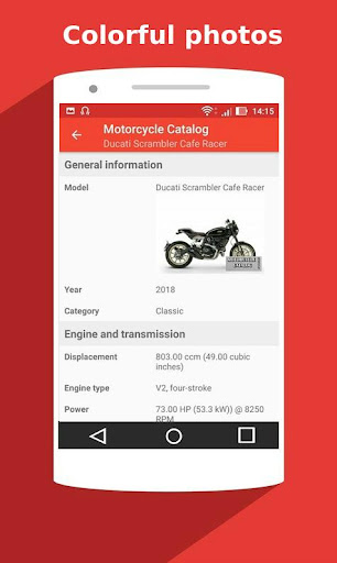 Motorcycle Catalog -  All Moto Information App 2.5 Screenshots 7