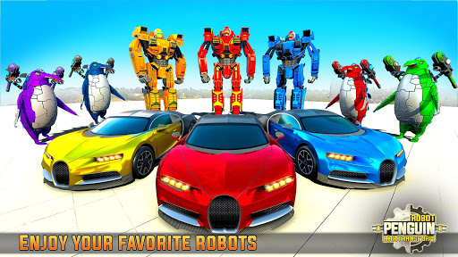 Penguin Robot Car Game: Robot Transforming Games 5 Screenshots 11