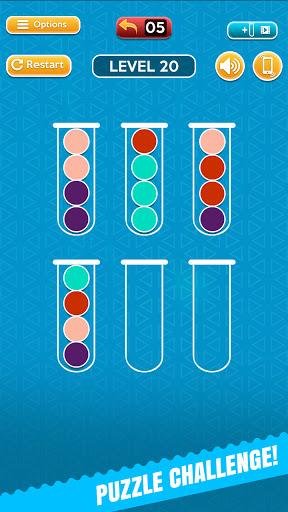 Code Triche Ball Sort Fun Puzzle - Jeux De Bulles De Couleur (Astuce) APK MOD screenshots 1