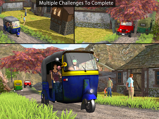 Tuk Tuk Auto Rickshaw Offroad Driving Games 2020 android2mod screenshots 11