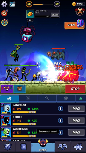 Idle Stickman Heroes: Monster Age apkmr screenshots 1