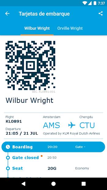 Screenshot 5 de KLM - Royal Dutch Airlines para android