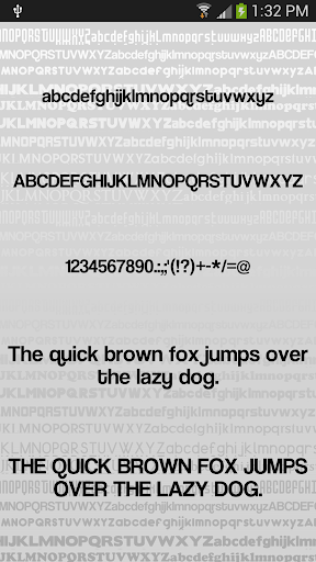 Clean2 font for FlipFont free ss2