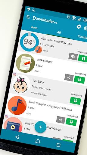 Downloader - Fast & Free Download Manager 7.5 screenshots 1