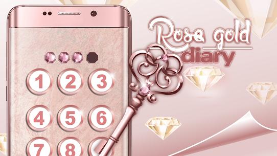 Cute Rose Gold Diary App 4.0 (MOD + APK) Download 3