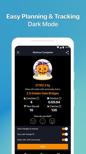 JEFIT Workout Tracker, Weight Lifting, Gym Log App 10.80 Screenshots 8