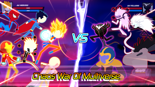 Super Stick Fight All-Star Hero: Chaos War Battle apktreat screenshots 1