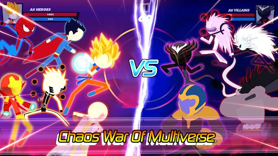 Super Stick Fight All-Star Hero: Chaos War Battle MOD (Unlimited Money) 1