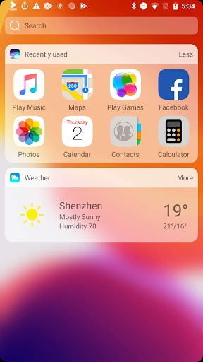 iLauncher X - new iOS theme for iphone launcher 3.11.6 Screenshots 5