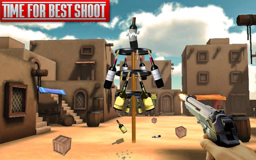Real Bottle Shooting Free Games: 3D Shooting Games android2mod screenshots 3
