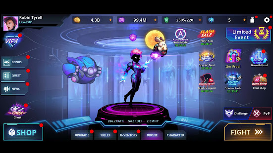 Hack Game Cyber Fighters: Cyberpunk Stickman Impact Fighting apk free
