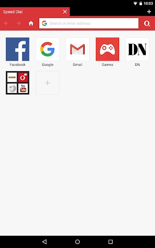 Foto do Opera Mini browser beta