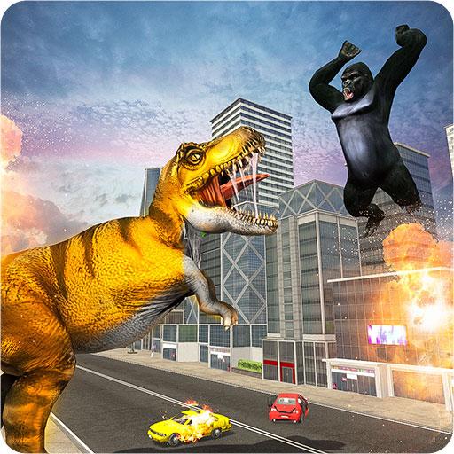 Baixar Extreme Monster Dino VS King Kong Attack Game 2021 para Android