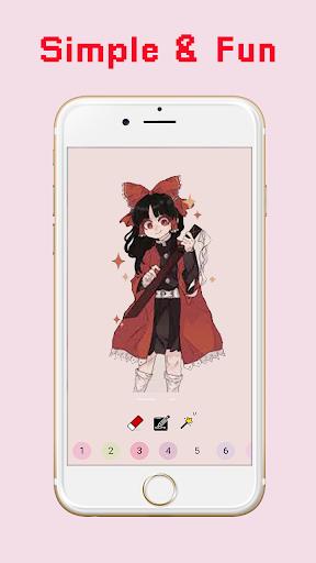 Pixel Kimetsu No Yaiba Color By Number - KNY Paint 126.0 screenshots 3