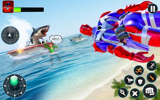 Flying Robot Hero - Crime City Rescue Robot Games 1.7.7 Screenshots 12