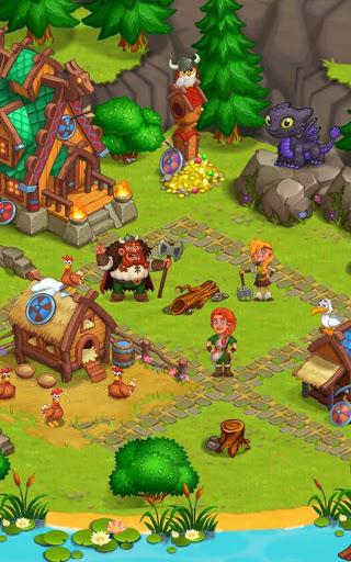 🍀 North Dragon Island - build Vikings Farm 🍀 apklade screenshots 2