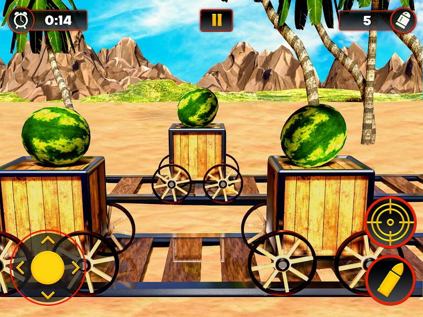 Captura 4 de Sandía Shooter Juego - Fruta del tiroteo para android