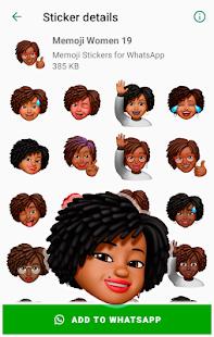 Memoji Black People Stickers for WhatsApp