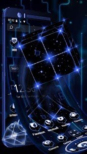 3D Tech Neon Cube Theme 1.1.6 MOD for Android 3