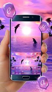 Sunset Sea Dolphin Keyboard Theme 2