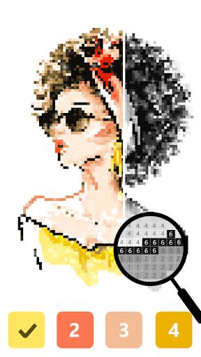 Pix123 - Color by Number, Pixel Art Relaxing Paint 2.4.8 screenshots 4
