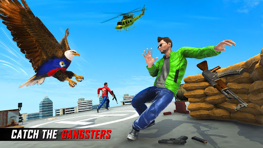 Flying Police Eagle Gangster Crime Shooting Game android2mod screenshots 1
