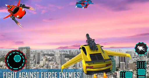 Flying Car Shooting Game: Modern Car Games 2021  Screenshots 14