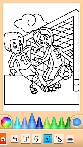 Football coloring book game  screenshots 1