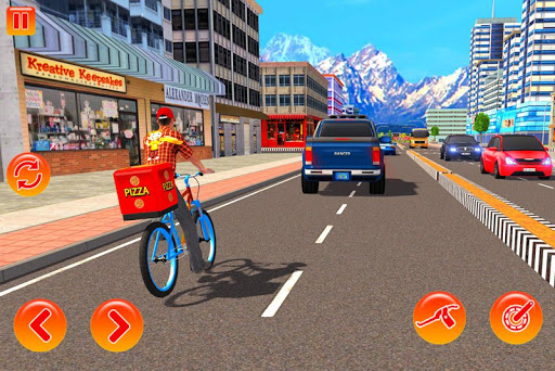 BMX Bicycle Pizza Delivery Boy 2019 screenshots 1