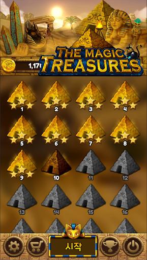 The magic treasures: Pharaoh's empire puzzle apkslow screenshots 2