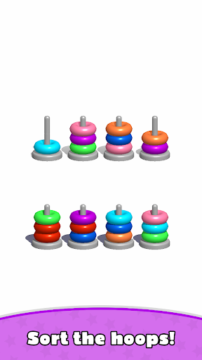 Sort Hoop Stack Color - 3D Color Sort Puzzle 3.0 screenshots 1