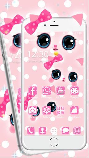 Pink kawaii Princess Kitty Theme  screenshots 5