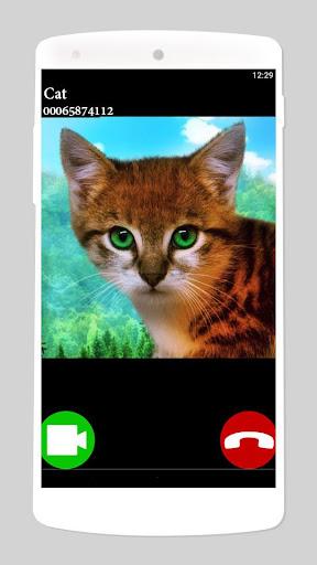 fake call video cat game  screenshots 1