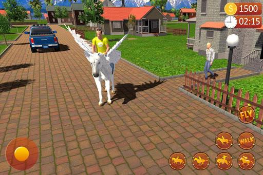 Flying Horse Taxi Driving: Unicorn Cab Driver  screenshots 8