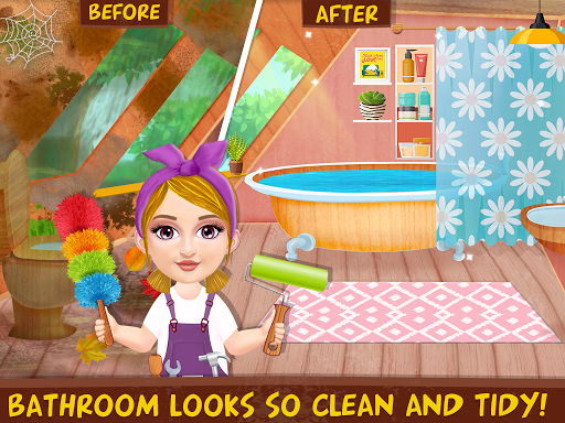 Messy House Cleanup Girls Home Cleaning Activities modavailable screenshots 6
