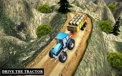 Drive Tractor trolley Offroad Cargo- Free 3D Games apkslow screenshots 13
