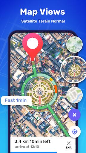 GPS Route Finder - GPS Location, Map Navigation apktram screenshots 3