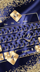 Blue Gold Luxury Keyboard
